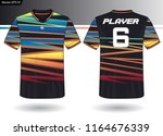 sports jersey template for team ... | Shutterstock .eps vector #1164676339