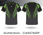 sports jersey template for team ... | Shutterstock .eps vector #1164676609
