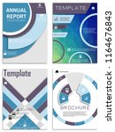 flyer design. business brochure ... | Shutterstock .eps vector #1164676843