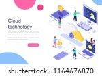 modern flat design isometric... | Shutterstock .eps vector #1164676870