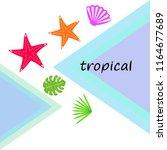 starfish shell tropical plant... | Shutterstock .eps vector #1164677689