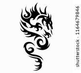 dragon vector illustration... | Shutterstock .eps vector #1164679846