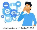banner social listening. the... | Shutterstock .eps vector #1164681850