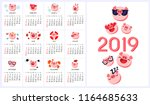 happy chinese new year 2019... | Shutterstock .eps vector #1164685633