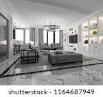 3d rendering white modern... | Shutterstock . vector #1164687949