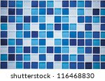 Blue Glass Mosaic In The...