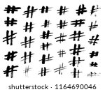 set of grunge hashtag icons....   Shutterstock .eps vector #1164690046