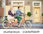 side view of active tourist... | Shutterstock . vector #1164690649