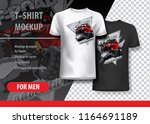 t shirt template  fully...   Shutterstock .eps vector #1164691189