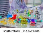 chemists work lab in morning ... | Shutterstock . vector #1164691336