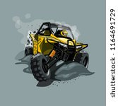off road atv buggy  rides...   Shutterstock .eps vector #1164691729