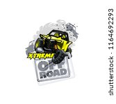 off road atv buggy logo ... | Shutterstock .eps vector #1164692293