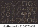 vector set with geometrical... | Shutterstock .eps vector #1164698650