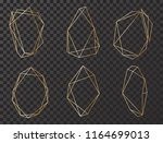 vector set with geometrical... | Shutterstock .eps vector #1164699013