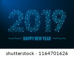 2019 new year illustration made ... | Shutterstock .eps vector #1164701626