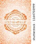 gold membership orange mosaic... | Shutterstock .eps vector #1164703999