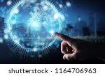 businessman on blurred... | Shutterstock . vector #1164706963
