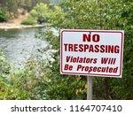 No Trespassing Sign   River...