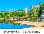 nice  france  june 11  2017 ... | Shutterstock . vector #1164710869