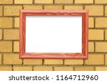 horizontal wooden frame on a... | Shutterstock . vector #1164712960