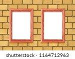 two vertical frames weigh on a... | Shutterstock . vector #1164712963
