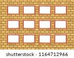 twelve frames for photos on a... | Shutterstock . vector #1164712966