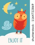 cool vector card or poster with ... | Shutterstock .eps vector #1164722869