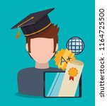 education online or elearning | Shutterstock .eps vector #1164725500