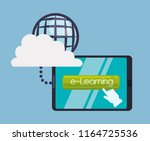 education online or elearning | Shutterstock .eps vector #1164725536