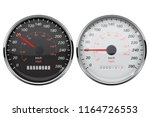 speedometer set. kilometers and ... | Shutterstock .eps vector #1164726553