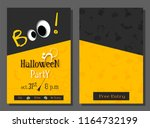 halloween party invitation or... | Shutterstock .eps vector #1164732199