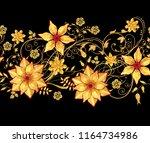 3d rendering. golden stylized...   Shutterstock . vector #1164734986