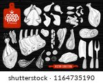 good food premium market  logo... | Shutterstock .eps vector #1164735190
