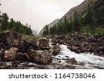 Fast Water Stream From Glacier...