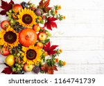 thanksgiving background with... | Shutterstock . vector #1164741739