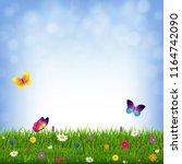 grass and flowers    Shutterstock . vector #1164742090
