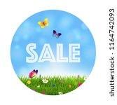 grass and flowers sale ball    Shutterstock . vector #1164742093