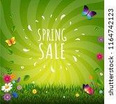 spring sale poster    Shutterstock . vector #1164742123