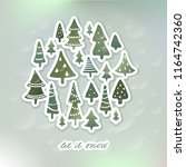 winter holidays banner design ... | Shutterstock .eps vector #1164742360