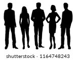 vector silhouettes men and... | Shutterstock .eps vector #1164748243