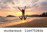 summer woman vacations concept  ... | Shutterstock . vector #1164752836