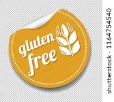 gluten free sticker isolated... | Shutterstock .eps vector #1164754540