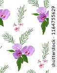 floral seamless pattern with... | Shutterstock .eps vector #1164755629