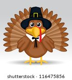 cute cartoon thanksgiving turkey | Shutterstock .eps vector #116475856