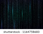 hacked. abstract digital... | Shutterstock .eps vector #1164758683