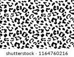 leopard seamless pattern. white ... | Shutterstock .eps vector #1164760216