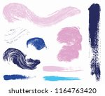 paint lines grunge collection.... | Shutterstock .eps vector #1164763420