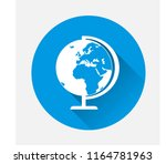 vector image of the globe on... | Shutterstock .eps vector #1164781963