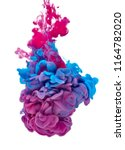 blue red paint in water | Shutterstock . vector #1164782020