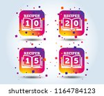 cookbook icons. 10  15  20 and... | Shutterstock .eps vector #1164784123